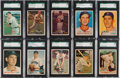 Baseball Cards:Lots, 1957 Topps Baseball High Grade SGC Collection (69) With ScarceSeries. ...