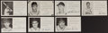 Baseball Collectibles:Others, 1950-51 St. Louis Cardinals Signed Photograph Postcards Lot of7....