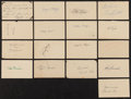 Baseball Collectibles:Others, St. Louis Cardinals and Brooklyn Dodgers Legends Signed GovernmentPostcards Lot of 17....