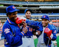 Baseball Collectibles:Photos, Mike Tyson, Doc Gooden and Darryl Strawberry Multi Signed OversizedPhotograph....