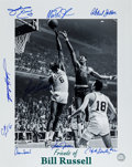 Basketball Collectibles:Photos, Friends of Bill Russell Multi Signed Oversized Photograph....