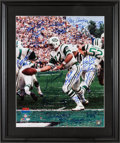 Football Collectibles:Photos, 1969 New York Jets Team Signed Joe Namath Oversized Photograph. ...