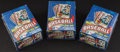 Baseball Cards:Sets, 1984 Topps Baseball Wax Box Trio (3) Each With 36 Unopened Packs. ...