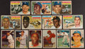 Baseball Cards:Lots, 1956 and 1957 Topps Baseball Stars & HoFers Collection (13) With Bakep Error. ...