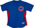 Baseball Collectibles:Uniforms, Kerry Wood Batting Practice Worn Chicago Cubs Jersey....
