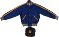 Football Collectibles:Others, 1940's/50's Notre Dame Children's Jacket and 1980's Game Worn Baseball Cap....