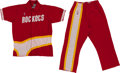 Basketball Collectibles:Uniforms, 1987-88 Richard Anderson Game Worn Houston Rockets Warm Up Uniform (pants and jacket)....