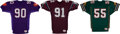 Football Collectibles:Uniforms, 1990's World Football League Game Worn Jerseys Lot of 3....