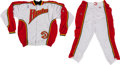 Basketball Collectibles:Uniforms, 1994-95 Atlanta Hawks Game Worn Warm Up Uniform (Pants andJacket)....