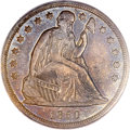 Seated Dollars, 1850 $1 AU53 PCGS. CAC....