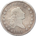 Early Half Dollars, 1794 50C -- Smoothed -- Genuine PCGS. Fine Details. O-106, LowR.6....