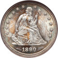 Seated Quarters, 1890 25C MS66 NGC....