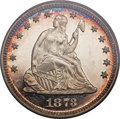 Proof Seated Quarters, 1873 25C No Arrows PR63 Deep Cameo PCGS. CAC....