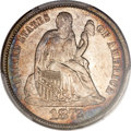 Seated Dimes, 1872-S 10C MS64 PCGS. CAC....