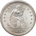 Seated Quarters, 1874-S 25C Arrows MS66 PCGS....