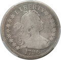 Early Quarters, 1796 25C -- Cleaning -- PCGS Genuine. VG Details. B-1, R.4....