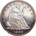 Proof Seated Half Dollars, 1889 50C PR65 Cameo NGC. CAC....