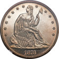 Proof Seated Half Dollars, 1873 50C No Arrows, Closed 3 PR65 NGC....
