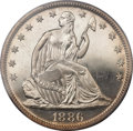 Proof Seated Half Dollars, 1886 50C PR65+ Cameo PCGS. CAC....