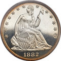 Proof Seated Half Dollars, 1882 50C PR66 Cameo PCGS....