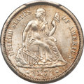 Seated Dimes, 1874-S 10C Arrows MS64 PCGS....