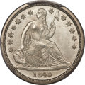 Seated Dimes, 1840 10C No Drapery MS66 PCGS. CAC....