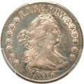 Early Quarters, 1806 25C AU50 PCGS. B-2, R.2....