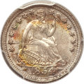 Seated Half Dimes, 1854 H10C Arrows MS66 PCGS. CAC....