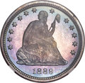 Proof Seated Quarters, 1889 25C PR67 NGC. CAC....