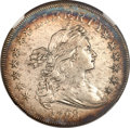 Early Dollars, 1798 $1 Large Eagle, Pointed 9 AU50 NGC. B-8, BB-125, R.2....