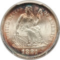 Seated Dimes, 1891 10C MS67 PCGS....