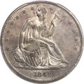 Seated Half Dollars, 1842-O 50C Small Date, Small Letters AU55 PCGS....