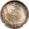 Seated Half Dollars, 1853-O 50C Arrows and Rays MS63 NGC. CAC....