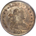 Early Half Dollars, 1807 50C Draped Bust AU50 PCGS. O-109a, R.3....