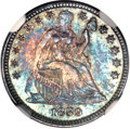 Seated Half Dimes, 1859 H10C MS67 ★ NGC. CAC....