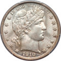 Barber Half Dollars, 1910-S 50C MS64 PCGS....