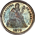 Seated Dimes, 1879 10C MS67 PCGS. CAC....