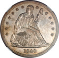Seated Dollars, 1840 $1 MS61 NGC....