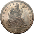 Seated Half Dollars, 1846-O 50C Tall Date AU58 NGC. WB-106....