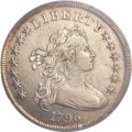 Early Dollars, 1798 $1 Large Eagle, Pointed 9 AU53 ANACS. B-27, BB-113, R.2....