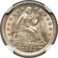 Seated Half Dimes, 1853 H10C Arrows MS67 NGC....