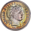 Proof Barber Dimes, 1914 10C PR67 PCGS....
