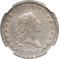 Early Half Dollars, 1795 50C 2 Leaves -- Improperly Cleaned -- NGC Details. AU. O-113a,R.4....