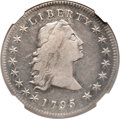 Early Dollars, 1795 $1 Flowing Hair, Three Leaves VF20 NGC. B-5, BB-27, R.1....
