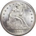 Seated Dollars, 1859-O $1 MS63 PCGS. CAC....