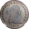 Early Dollars, 1803 $1 Large 3 AU50 NGC. B-6, BB-255, R.2....
