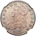 Bust Half Dollars, 1828 50C Square Base 2, Small 8, Large Letters MS65 NGC. O-122,R.3....