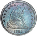 Proof Seated Quarters, 1881 25C PR68 NGC....