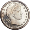 Proof Barber Quarters, 1894 25C PR66 Cameo PCGS. CAC....