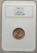 Indian Cents: , 1863 1C MS64 NGC. NGC Census: (614/223). PCGS Population (776/244).Mintage: 49,840,000. Numismedia Wsl. Price for problem ...